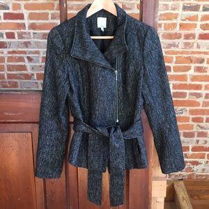 Halogen tweed wrap blazer S